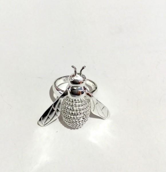 Ring Biene groß silber