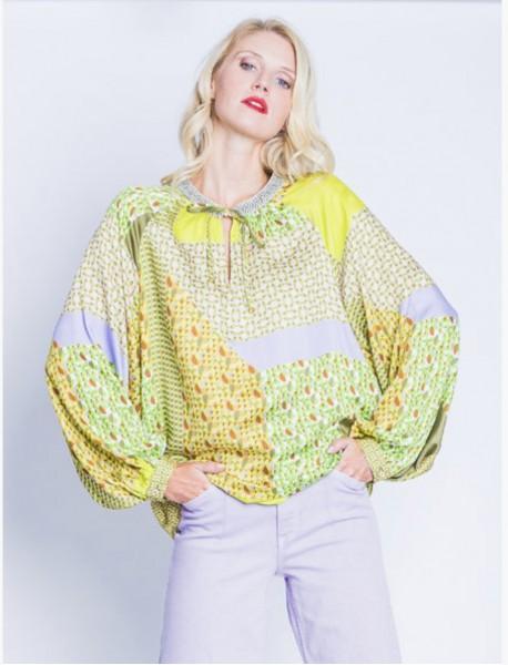 Bluse Felipa Lemon/Khaki
