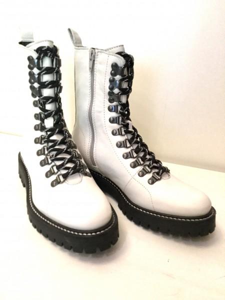 Schnür-Boots weiß