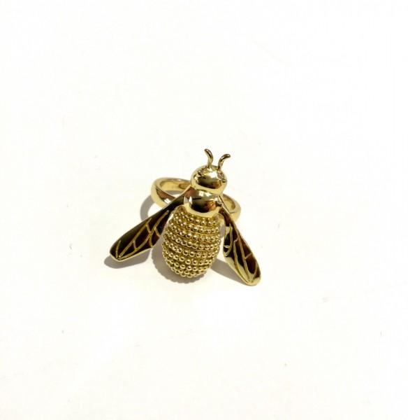Ring Biene groß gold