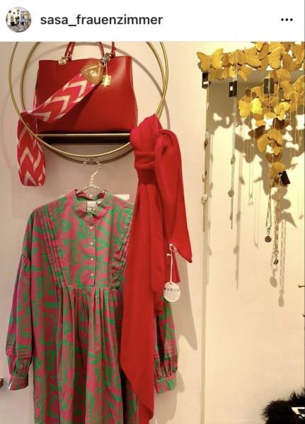 Kleid Penny pink/grün