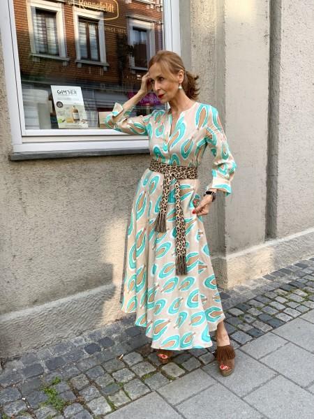 Azurite Dress nude/türkis